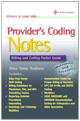 Provider's Coding Notes: Billing & Coding Pocket Guide (Davis's Notes) ()