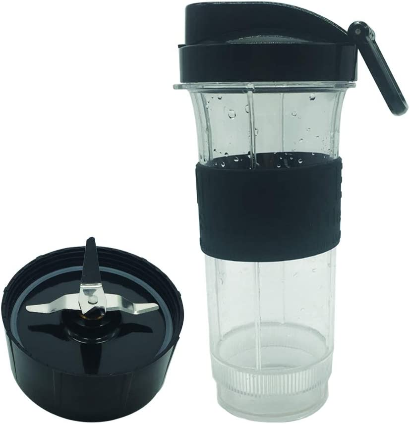 joystar magic 20oz Cup and Extractor Blade with to go lid Replacement Set - Large Accessory Part Compatible with Original Magic Bullet Blender