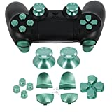 Full Metal Bullet Buttons for PS4 Controller, COCOTOP Aluminium Buttons Thumbsticks Thumb Grip, ABXY Buttons, D-pad, L1 R1 L2 R2 Trigger Buttons for PS4 PS4 Slim PS4 Pro Controller (Green)