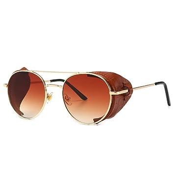 CCTYJ Gafas de Sol metálicas Street Beat Redondo Marco HD ...