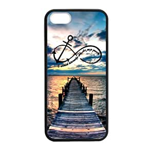 CMGOODS Best Durable Case Infinity Custom Case for iPhone 5,5S TPU (Laser Technology)