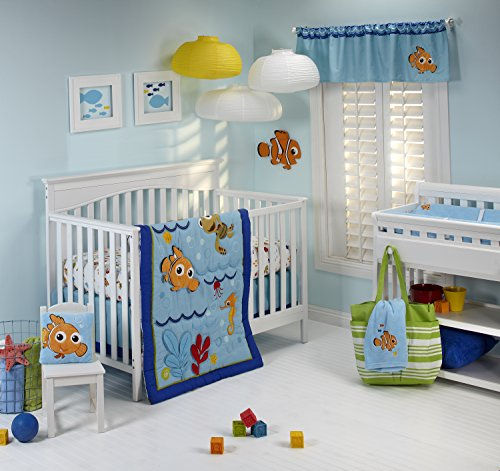 Disney Nemo Wavy Days 4 Piece Crib Bedding - Water Theme