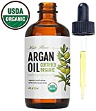 argan Moroccan Argan Oil (4oz), USDA Certified Organic, Virgin, 100% Pure, Cold Pressed by Kate Blanc. Stimulate Growth for Dry and Damaged Hair. Skin Moisturizer. Nails Protector. 1-Year Guarantee.