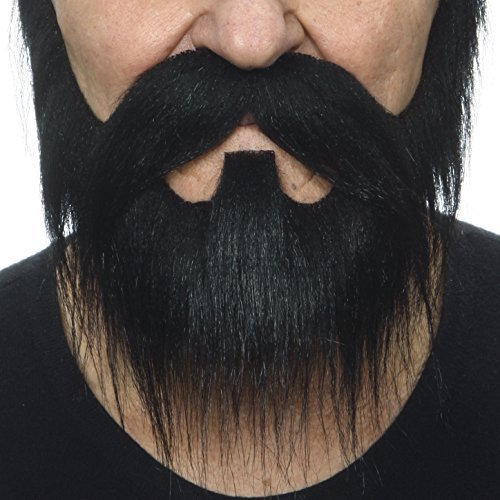Nomad black beard and mustache (Quality Fake Moustache)