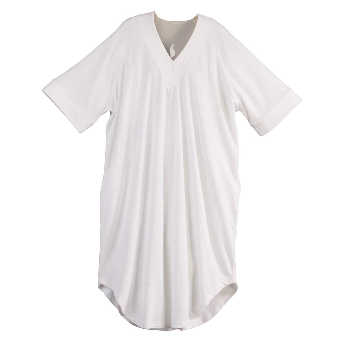 V Neck White Terry Caftan by Sawyer Creek Fox Valley Traders