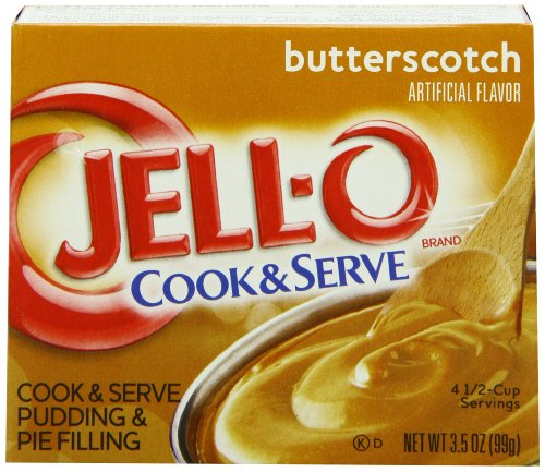 JELL-O Butterscotch Cook & Serve Pudding & Pie Filling Mix (3.5 oz Boxes, Pack of ()