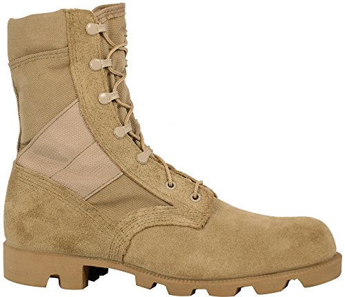 Specification Desert Boot - McRae Mens Desert Tan Suede/Cordura Hot Weather Panama Military Boots 12 R