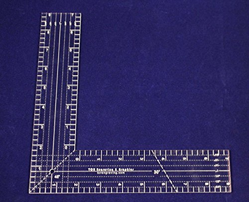 """9"""" L-Shaped Ruler. Acrylic 1/8"""" thick. Quilting/Sewing - ..."""