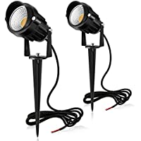 2-Pack Meikee 7W LED Landscape Lights / Outdoor Spotlight