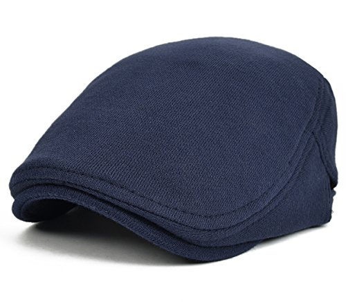 VOBOOM2017 Men's Cotton Flat Ivy Gatsby Newsboy Driving Hat Cap (Navy)