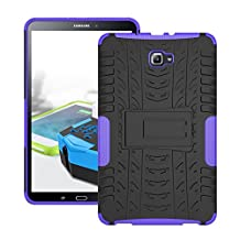 Samsung galaxy tab A 10.1 Case, Hybrid Heavy Duty Armor Protection Cover Anti Slip Built-In Kickstand Skin Case for SAMSUNG Galaxy Tab A 10.1 Inch Tablet Case (SM-T580 T585-2016 release) (Purple)