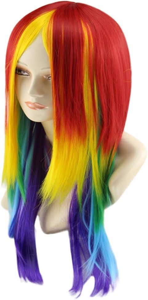 XHCP Peluca Larga y Recta para Mujer, My Little Pony Rainbow ...