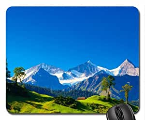 Alps mountains - Panoramic view Mouse Pad, Mousepad (Mountains Mouse Pad) by icecream design