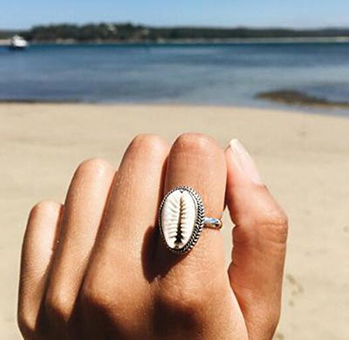 (Fashion Ring, Hoshell Unique Gorgeous White Women Jewelry Ring Shell Wedding Bridal Gifts)