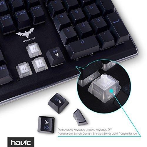 HAVIT RGB Backlit Wired Membrane Gaming Keyboard, Mechanical-Similar Typing/Gaming Experience (RGB Color)