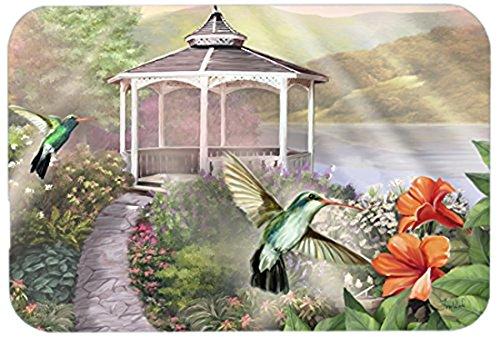 Caroline's Treasures PTW2053LCB Garden Gazebo Hummingbird Duo Glass Cutting Board, Large, Multicolor