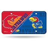 NCAA Kansas Jayhawks Metal Auto Tag