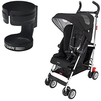 Maclaren DSE04092 BMW Stroller in Black with BMW-inspired Cup Holder by Maclaren
