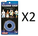 Cheap Tourna Tennis 3 XL Overgrips Absorbent Dry Feel Tournagrip Blue (2-Pack)