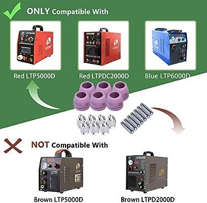 90 pcs Consumables For Lotos Plasma Cutter Electrode Nozzles Cups LTP5000D NEW
