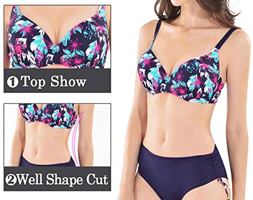 Traje de baño de las señoras Bikini de moda de impresión traje de baño caliente Split Bikini A