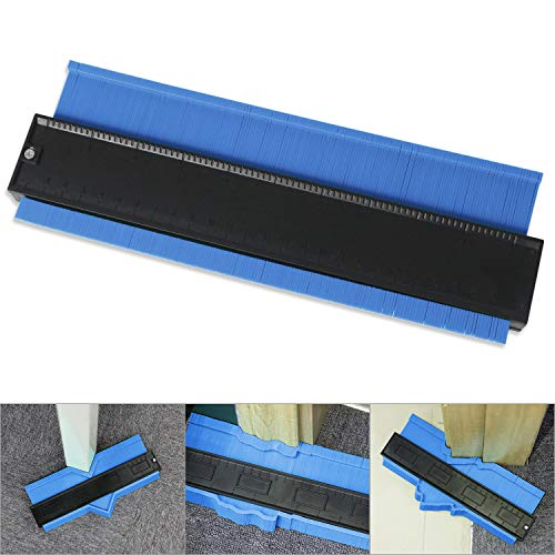 Copieur de contour 120 mm/250 mm Appareil de mesure de profil pour carrelage stratifié bois Outil généraliste pour contours courbes, bleu