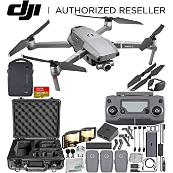 DJI Mavic 2 Zoom Drone Quadcopter with 24-48mm Optical Zoom Camera Fly More Kit Combo 128GB Aluminum Carrying Case Bundle