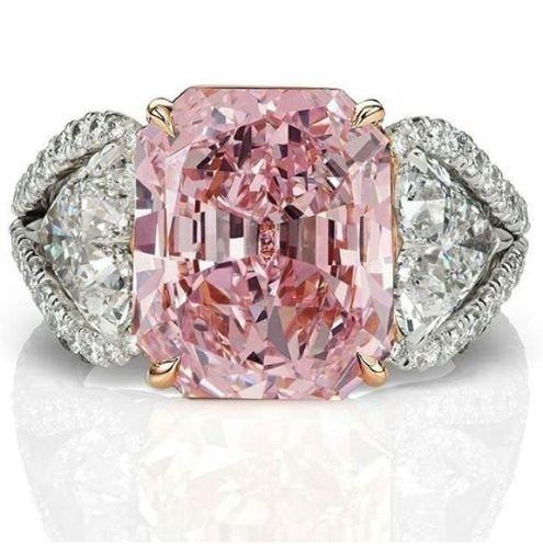 Pink Topaz Ring - Nongkhai shop Women Fashion 925 Sterling Silver Pink Sapphire White Topaz Bridal Ring Jewelry (6)
