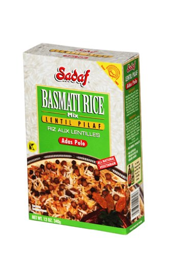 Sadaf Basmati Rice Mix Lentils Pilaf,12 Oz (Pack of 2) by Sadaf