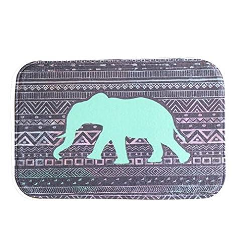 Sunward Fashion New Anti-skid Mat ,Indoor Bath Rug Shower Non-slip Floor Carpet Decor Mat Outdoor Doormat (green (Elephant Floor Rug)