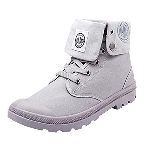 Boots Ankle Randonnée Combat High Hommes Air Army De Patrol Chaussures Bottes en Martin Worker Meedot Gris Tactical Plein A1UCx