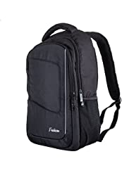 """Frabicon Xplorer Men Laptop Backpack Waterproof for 15"""" Macbook and iPad with Safety Reflective Stripe for Business Women College Bookbag Sac à dos - Black"""
