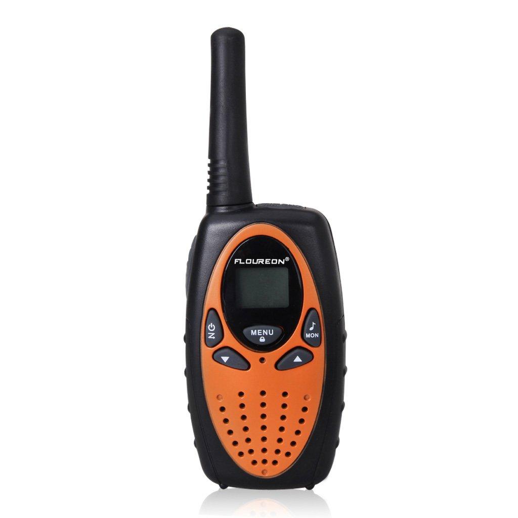 FLOUREON 4 Packs Walkie Talkies Two Way Radios 22 Channel 3000M (MAX 5000M open field) UHF Long Range Handheld Talkies Talky (Orange) by floureon (Image #2)