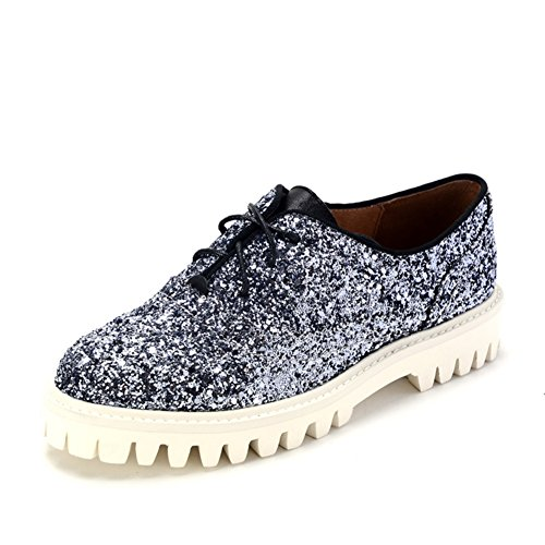 Zapatos casuales primavera profunda/Lentejuelas alrededor de las cabezas y las mujeres zapatos B