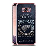 Official HBO Game Of Thrones Stark Metallic Sigils Rose Shockproof Fender Case for Samsung Galaxy S8+/S8 Plus