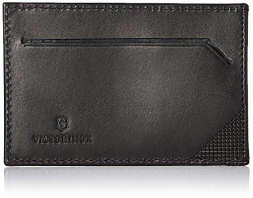 Victorinox Men's Altius Edge Napier Leather Money Clip with RFID, Black, L