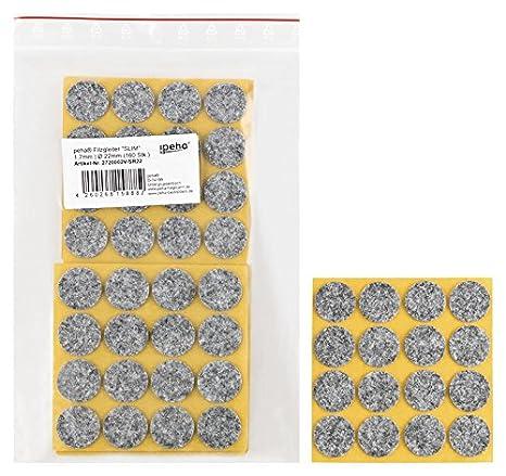 Filzgleiter selbstklebend Slim /Ø 11 mm 240 Stk. 1,7 mm stark haggiy M/öbelgleiter