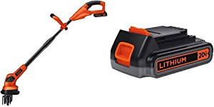 BLACK+DECKER 20V Cordless Garden Cultivator/Tiller with Extra Lithium Battery 2.0 Amp Hour (LGC120 & LBXR2020-OPE)