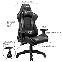 Homall Speed Series Racing Chair Ergonomic High-Back Gaming Chair Premium PU Leather Bucket Seat,Computer Swivel Lumbar Support Executive Office Chair by Homall