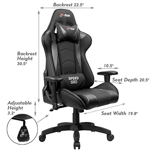 519Df9lKv0L - Homall Speed Series Racing Chair Ergonomic High-Back Gaming Chair Premium PU Leather Bucket Seat,Computer Swivel Lumbar Support Executive Office Chair