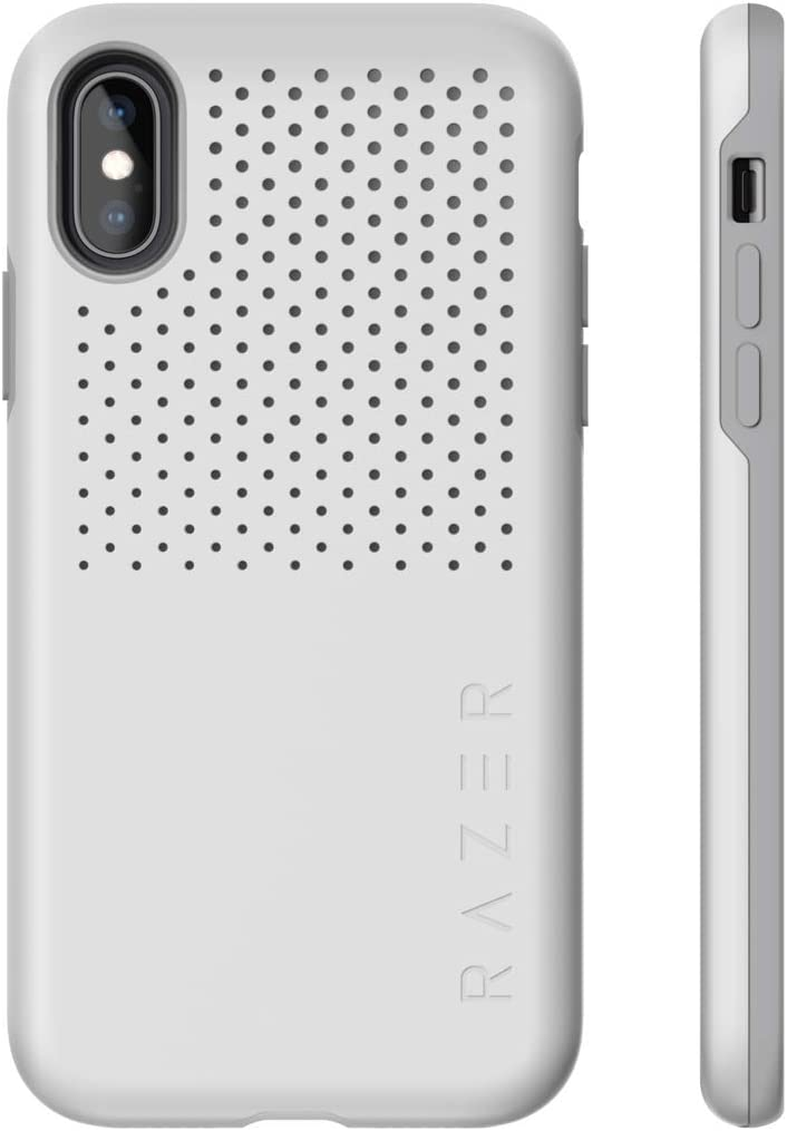 Razer Arctech Pro for iPhone Xs Case/iPhone X Case: Thermaphene & Venting Performance Cooling - Wireless Charging Compatible - Drop-Test Certified up to 10 ft - Mercury White
