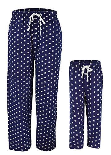 UB Kids American Flag Stars 4th of July Matching Family Pajama Pants (Kids 2t) -