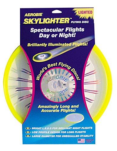 2 opinioni per Aerobie Skylighter LED Frisbee Illuminato- Giallo