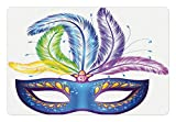 Best Ambesonne Masquerade Masks - Ambesonne Mardi Gras Pet Mat for Food Review