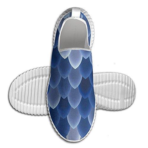 Oeuf Oeuf Lumineux Sirène Échelles Échelles Femmes Mocassins Hommes Chaussures De Course Respirant Maille En Plein Air Sport Chaussures De Marche Blanc