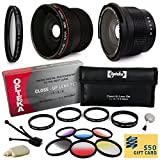 Professional Panoramic Macro Lens & Filters Accessories Bundle for Sony Alpha A5000, A6000, NEX 3N, NEX-3N, NEX-3NL, NEX3NL, NEX 5T, NEX-5T, NEX5T, NEX 5TL, NEX-5TL, NEX5TL, NEX 6, NEX6, NEX-6, NEX 6L, NEX6L, NEX-6L includes Super 0.35x and 0.20X High Def