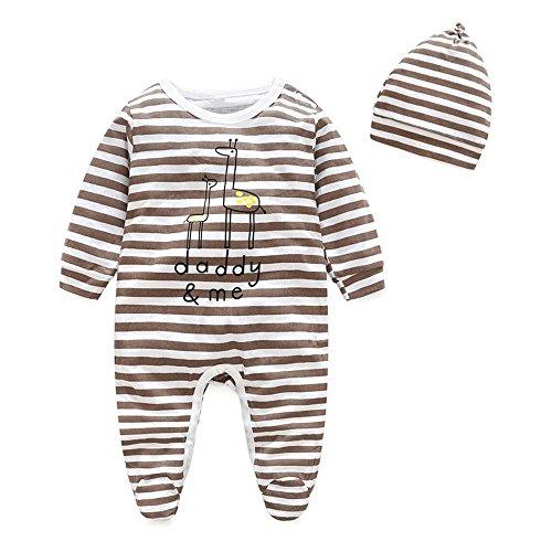 Baby Sweet Haute (YJM Baby Rompers Boys Girls Schlafanzug Baumwolle Jumpsuit Outfits Bodysuit Strip Häschen drucken(90))