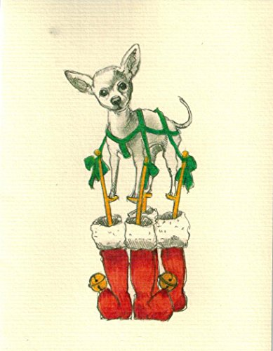 Chihuahua Boxed Holiday Cards Set of 10 Cards Envelopes