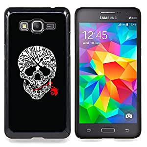 - Skull Red Blood Rock Roll Guitar Music - - Snap-On Rugged Hard Cover Case Funny HouseFOR Samsung Galaxy Grand Prime G530H G5308