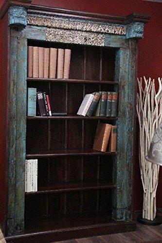 Bücherregal, Antik, Weiß, Holz, Massiv, gekälkt, Kolonial ...